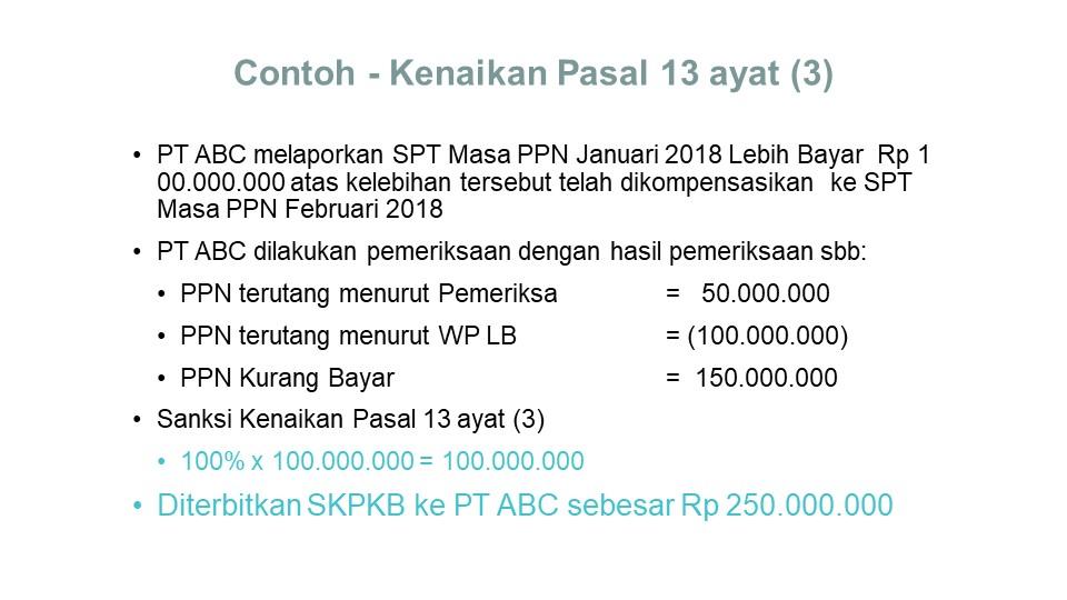 sanksi salah kompensasi lebih bayar PPN