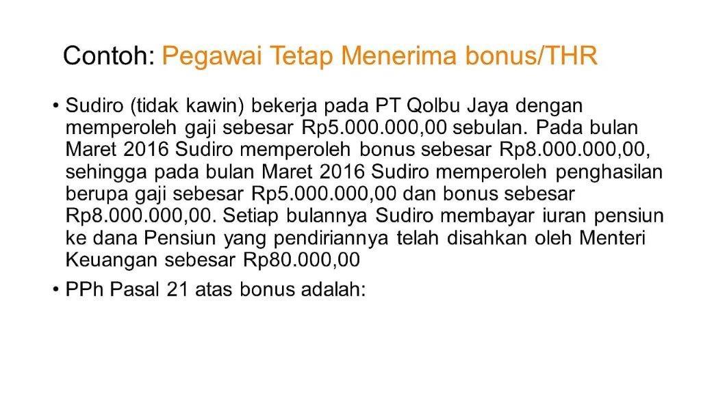 Cara Menghitung PPh 21 atas Bonus