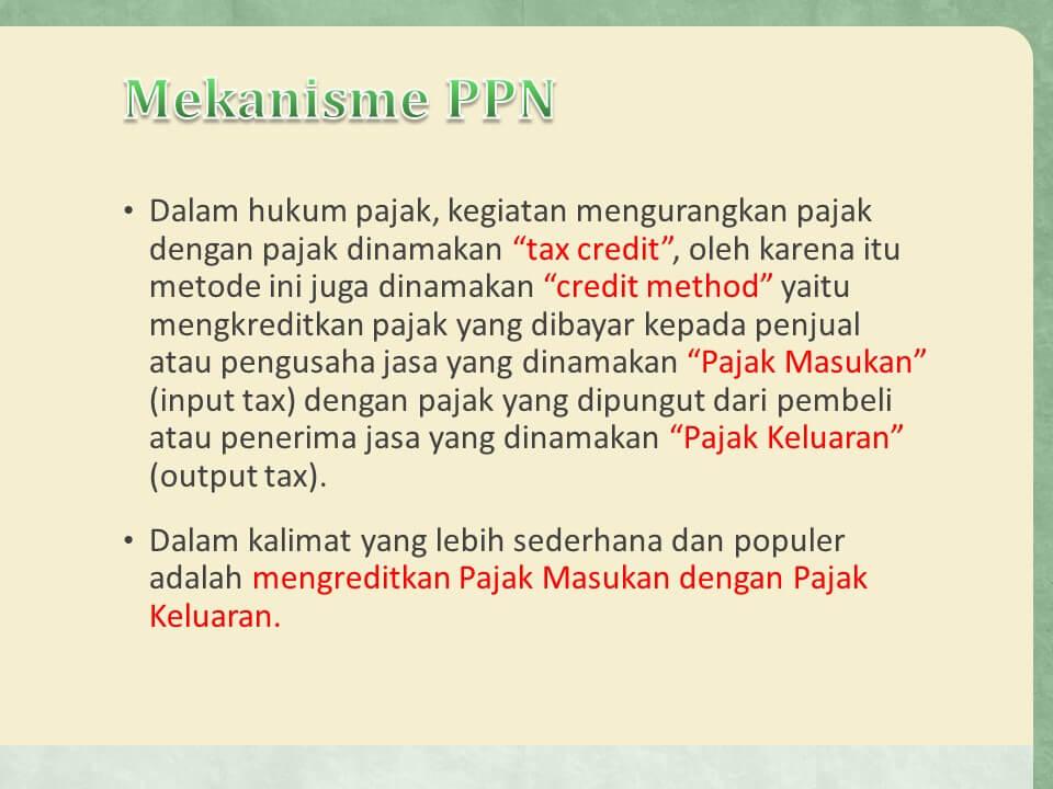 mekanisme pajak pertambahan nilai